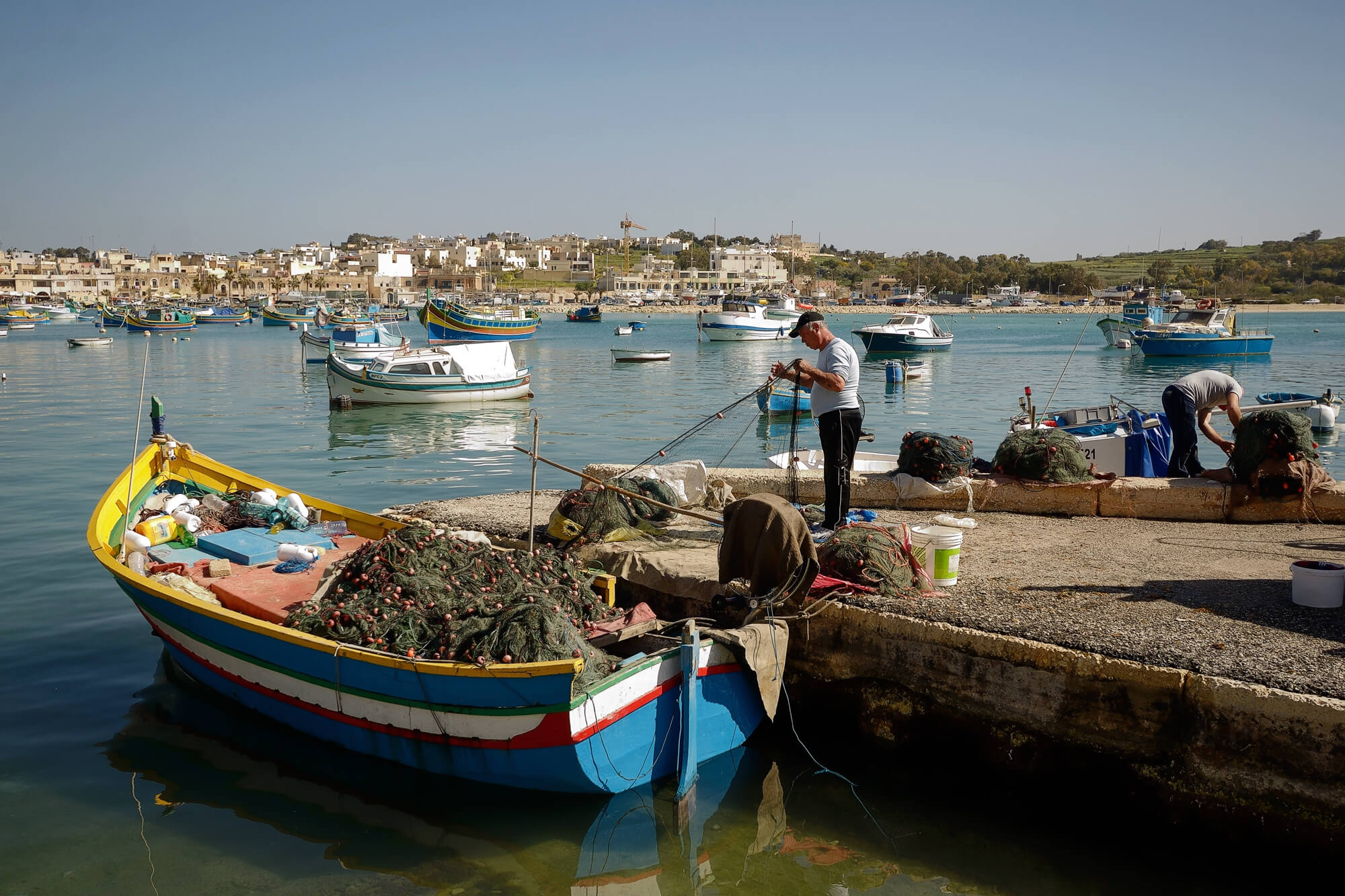 Fishermen in Marsaxlokk Malta