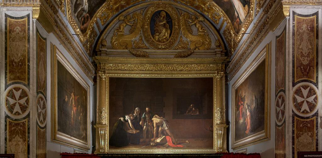 caravaggio st john's cathedral valletta capital city of malta beheading of st john